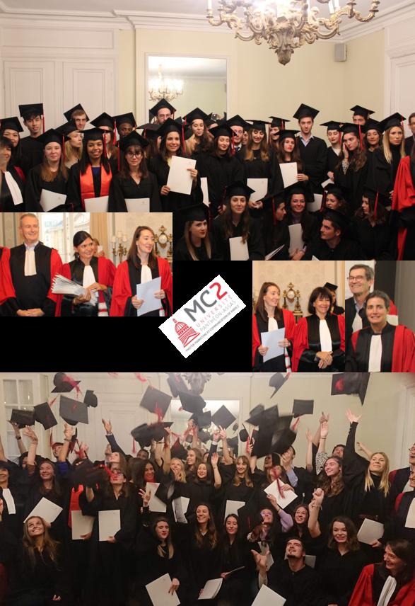 Montage photographique de ls soirée de remise de diplome du MC2